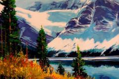 Crowfoot-Glacier.-16x20-Acrylic
