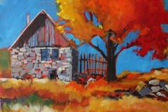 Stone Barn 24 x 24 Acrylic