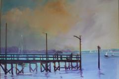 Crescent Beach Acrylic 18 x 24