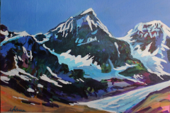 Columbia Ice fields 12 x 16 Acrylic
