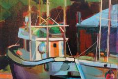 Fishing Boats 12 x 16 Acrylic