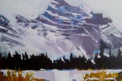 Mt Edith Cavell, Jasper 11 x 14 Acrylic