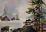 West Coast, Olympic Peninsula 12 x 16 Acrylic Sold