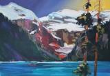 Lake Louise 12 x 16 Acrylic