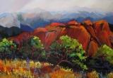 Red Rocks, Morrison, Colorado Acrylic 40 x 48 Sold