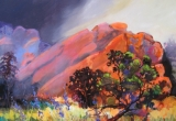 Red Rocks, Morrison, Colorado 36 x 30 Acrylic