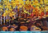 On the Banks of the Red Deer River 2 16 X 20
