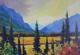 Red Deer River Breaks, Alberta 16 x 20 Acrylic Sold