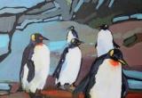 Penguin Parade 12 x 12 Acrylic