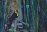 Yellow Headed Blackbird 16 x 20 Acrylic Sold
