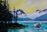Atlin Air, Llewellyn Glacier, BC 16 x 20 Acrylic Sold