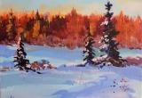 Snow Covered Pasture 11 x 14 Acrylic