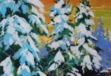 Snow Covered Spruce 12 x 12 Acrylic