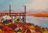 Crescent Beach 12 x 16 Acrylic Sold