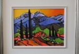 Mount Saint Victoire, Provence, France 12 x 16 Acrylic