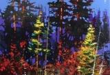 Woodland Forest 18x24