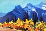 Three sisters. Canmore, Alberta 6 X 8