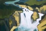 Virginia Falls, Nahanni River 14 x 18 Acrylic Sold