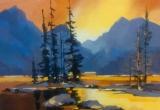 Maligne Lake 16 x 20 Acrylic